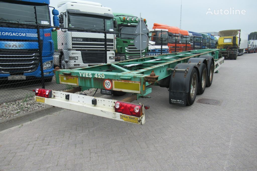 Turbos Hoet Container Chassis / 40-45ft / BPW + Drum container chassis semi-trailer