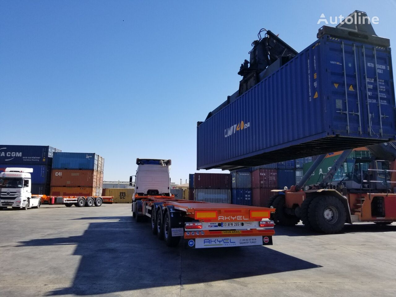 new AKYEL TREYLER container chassis semi-trailer