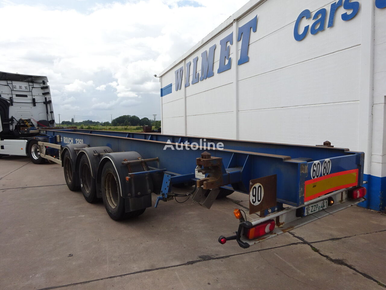ASCA container chassis semi-trailer