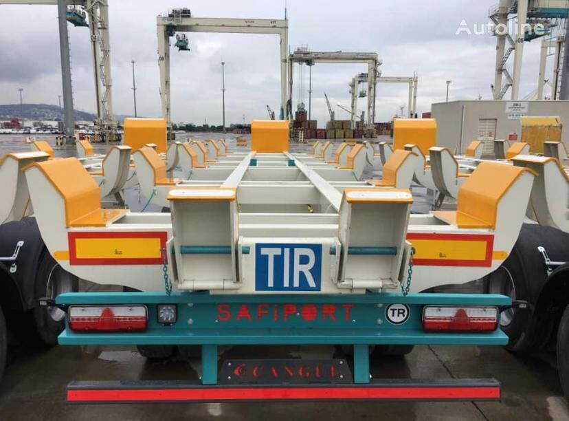 new CANGÜLLER TREYLER İn Port Container Carrier container chassis semi-trailer