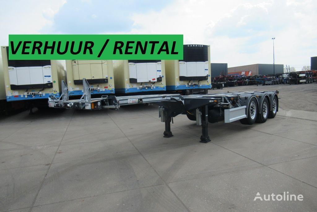 D-TEC RENTAL / VERHUUR / FLEXITRAILER MULTI container chassis semi-trailer