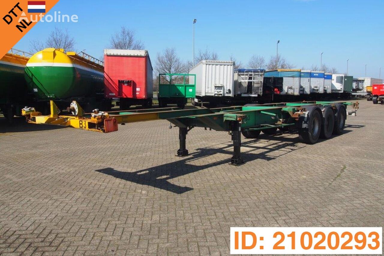 DESOT Skelet 2 x 20-40 ft container chassis semi-trailer
