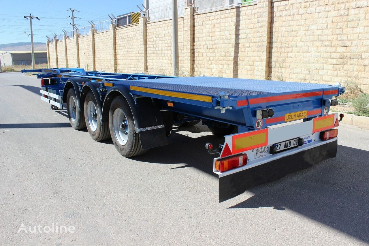 new EMIRSAN 45 Feet Skeletal Container Trailer container chassis semi-trailer