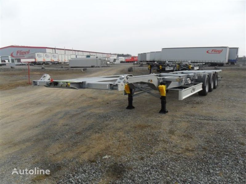 new FLIEGL GOOSENECK container chassis semi-trailer