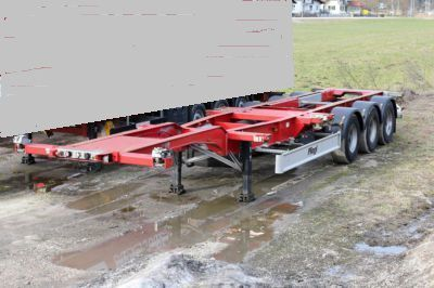 new FLIEGL SDS 380 container chassis semi-trailer