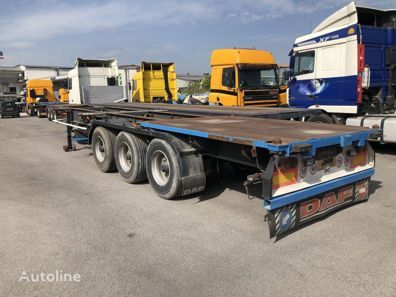 FRUEHAUF CONTAINER 40FT - 2X20FT,1X20FT container chassis semi-trailer