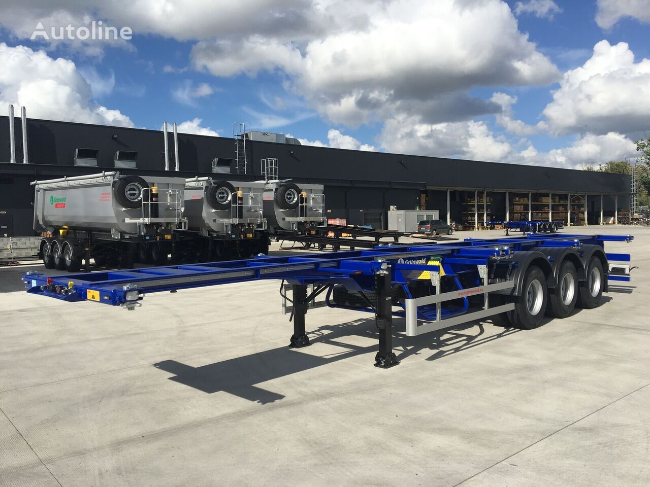 GRUNWALD GSC03 HD container chassis semi-trailer