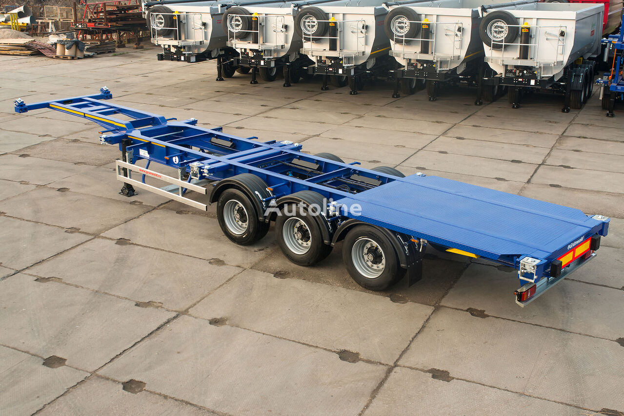 new GRUNWALD Versatile low-bed container semitrailer container chassis semi-trailer