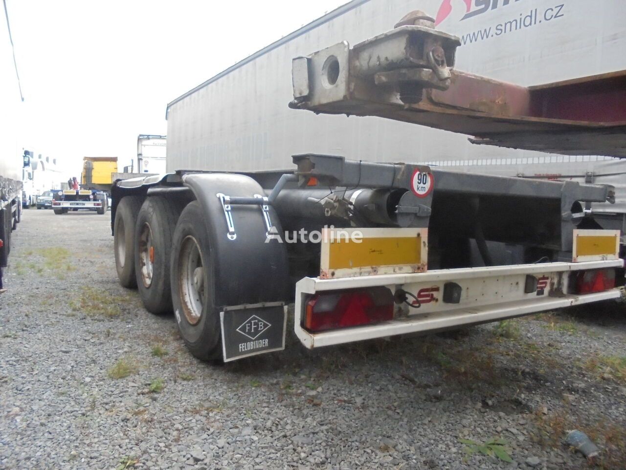 HANGLER 3SCOL / BDF / Kontainer container chassis semi-trailer