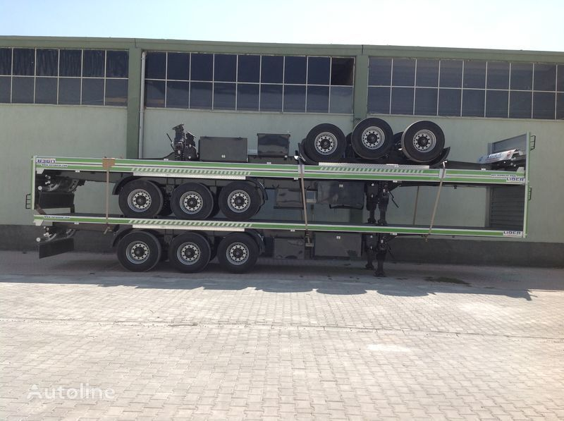 new LIDER 2017 YEAR NEW 40' 20' 30' container transport trailer manufactur container chassis semi-trailer