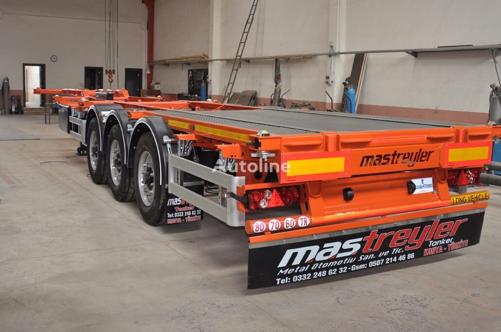 new MAS TRAILER TANKER 3 Axle Skeletal Trailers From Factory container chassis semi-trailer