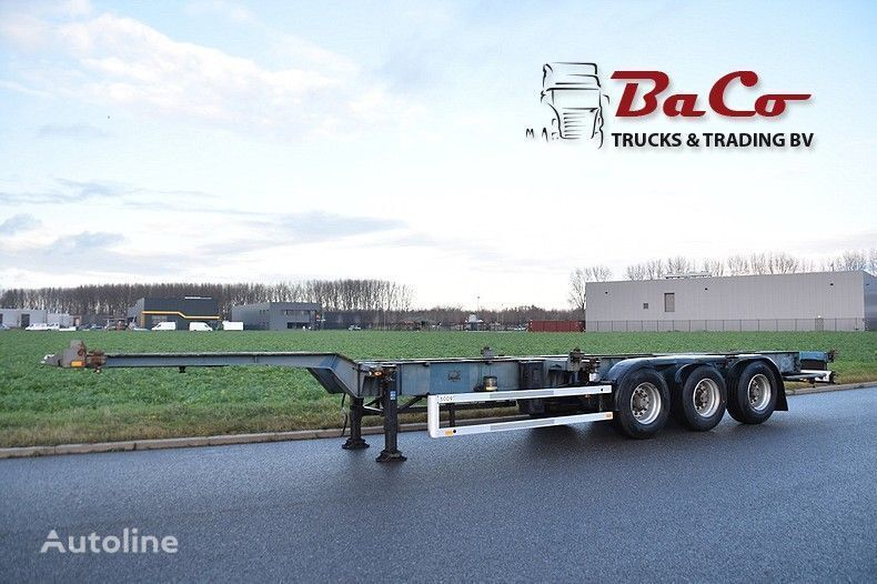 NETAM-FRUEHAUF OSCCR 39 327 - ADR - DRUM BRAKES - CENTRAL LUBRICATION container chassis semi-trailer