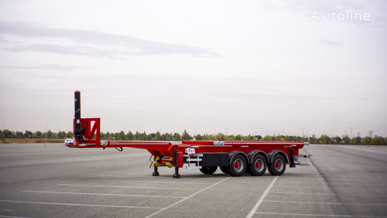 new NOVA NEW CONTAINER TIPPING CHASSIS PRODUCTION 20,30,40 FT container chassis semi-trailer