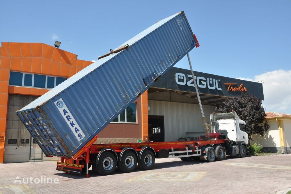 new OZGUL 40 FT TIPPING CONTAINER CHASSIS AINER CARRIER container chassis semi-trailer