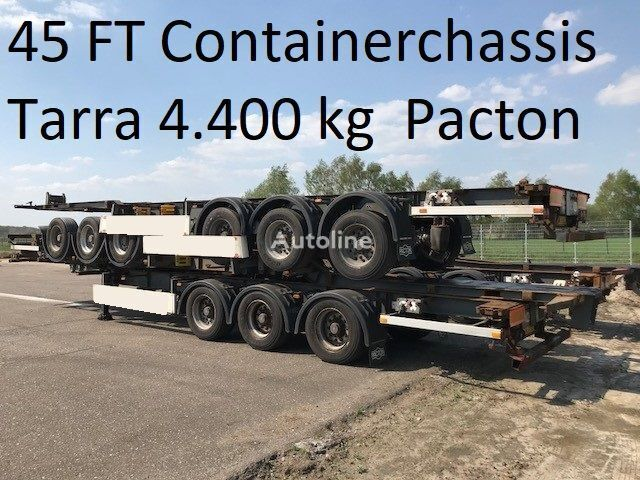 PACTON Pacton TXC339 ,40 / 45 ft container , tarra 4.400 kg container chassis semi-trailer