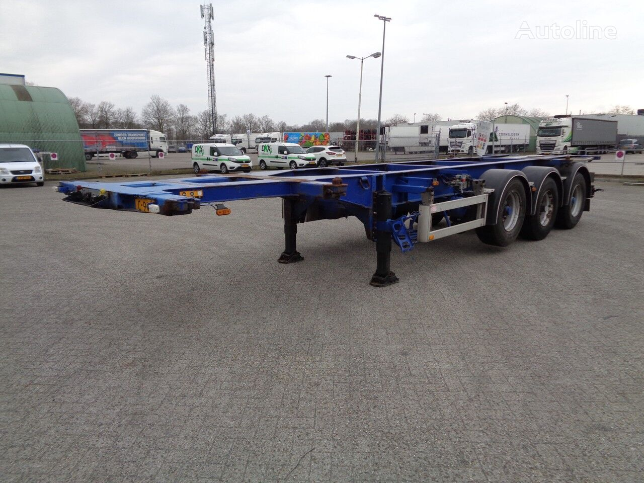 PACTON TXC.339, 3 Axles, 1 x 20Ft, 1 x 30FT, BPW, ADR! container chassis semi-trailer