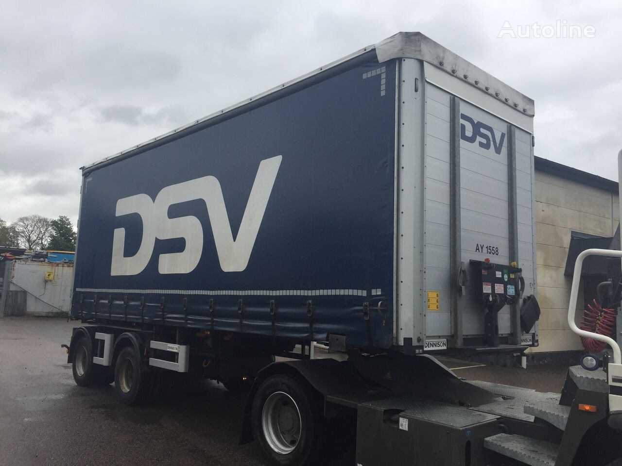 DENNISON LINK CURTAIN LIFTING ROOF - AY1558 curtain side semi-trailer