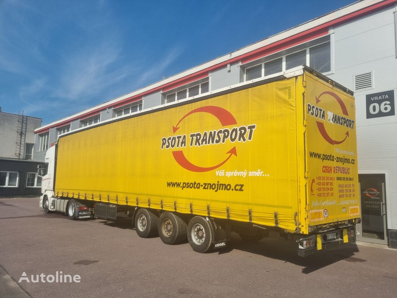 KÖGEL SNCO 24, Edscha curtain side semi-trailer