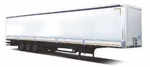 new MAZ 975870-3021-001 curtain side semi-trailer