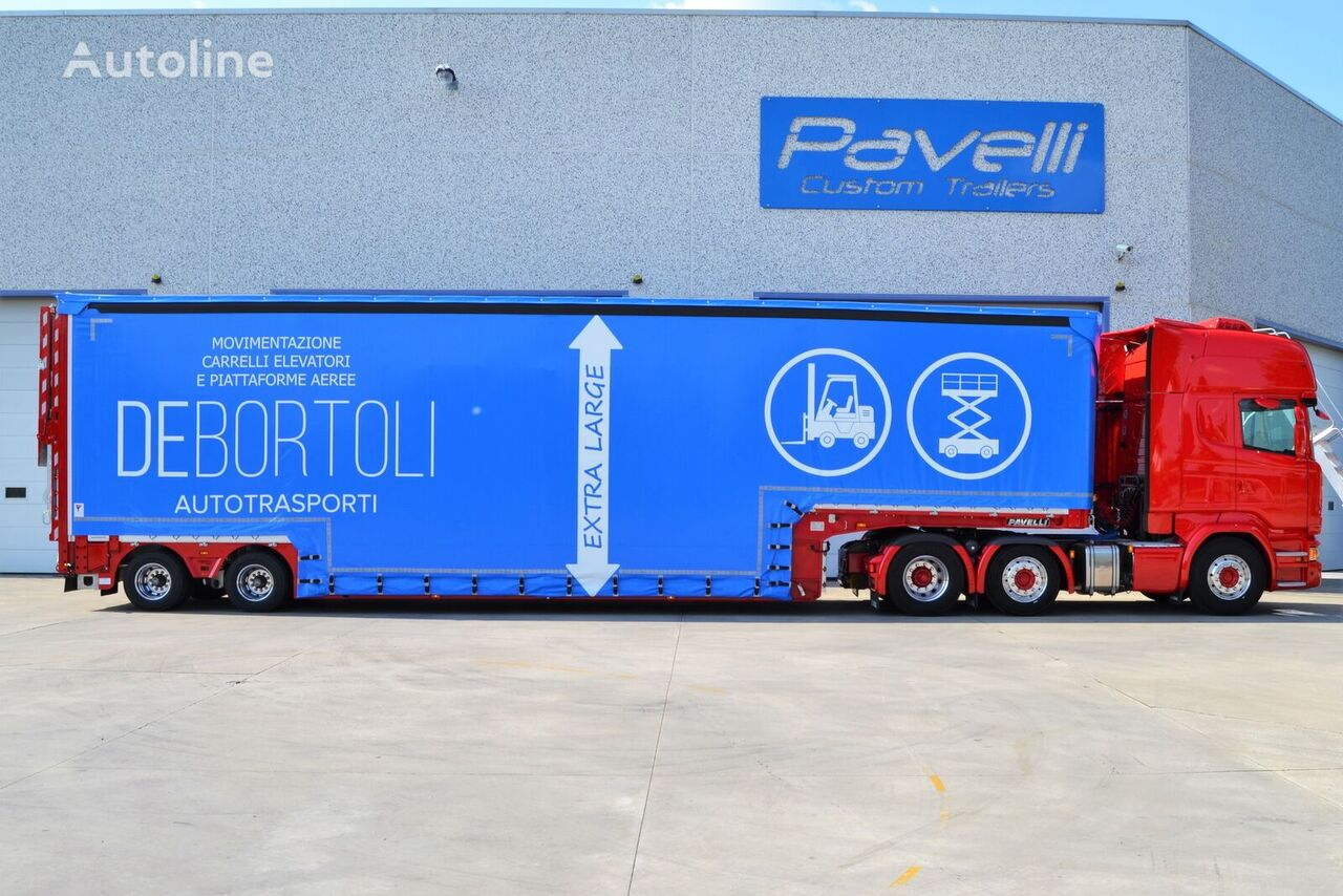 new PAVELLI CURTAINSIDER curtain side semi-trailer