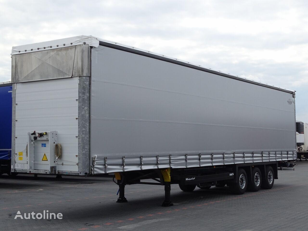 SCHMITZ CARGOBULL CURTAINSIDER / MEGA / VARIOS / LIFTED AXLE / 385/55 R19,5 / curtain side semi-trailer