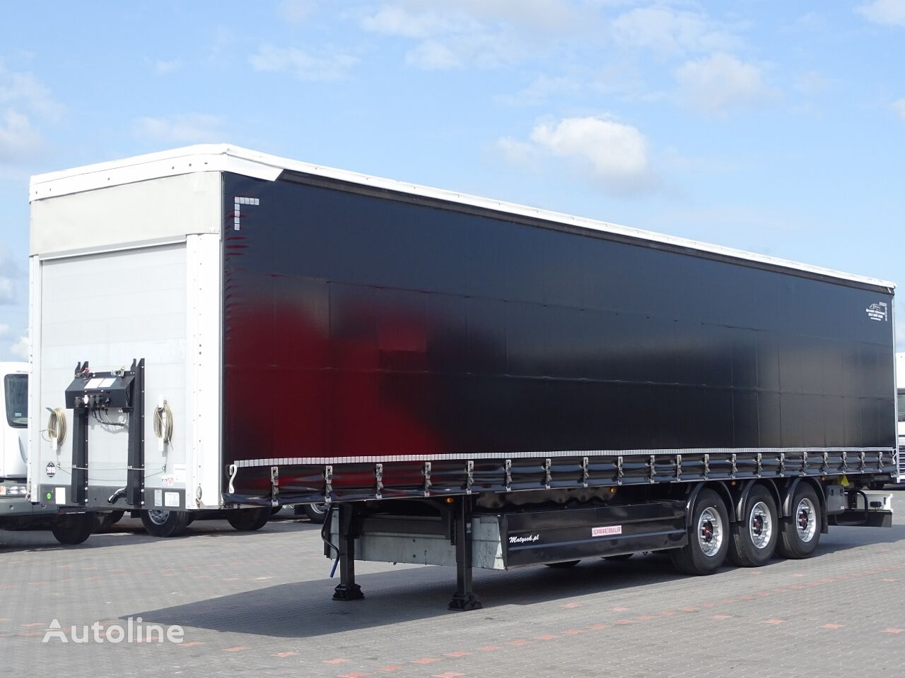 SCHWARZMÜLLER CURTAINSIDER / PALLET BOX / LIFTED AXLE / XL CODE / PERFECT COND curtain side semi-trailer