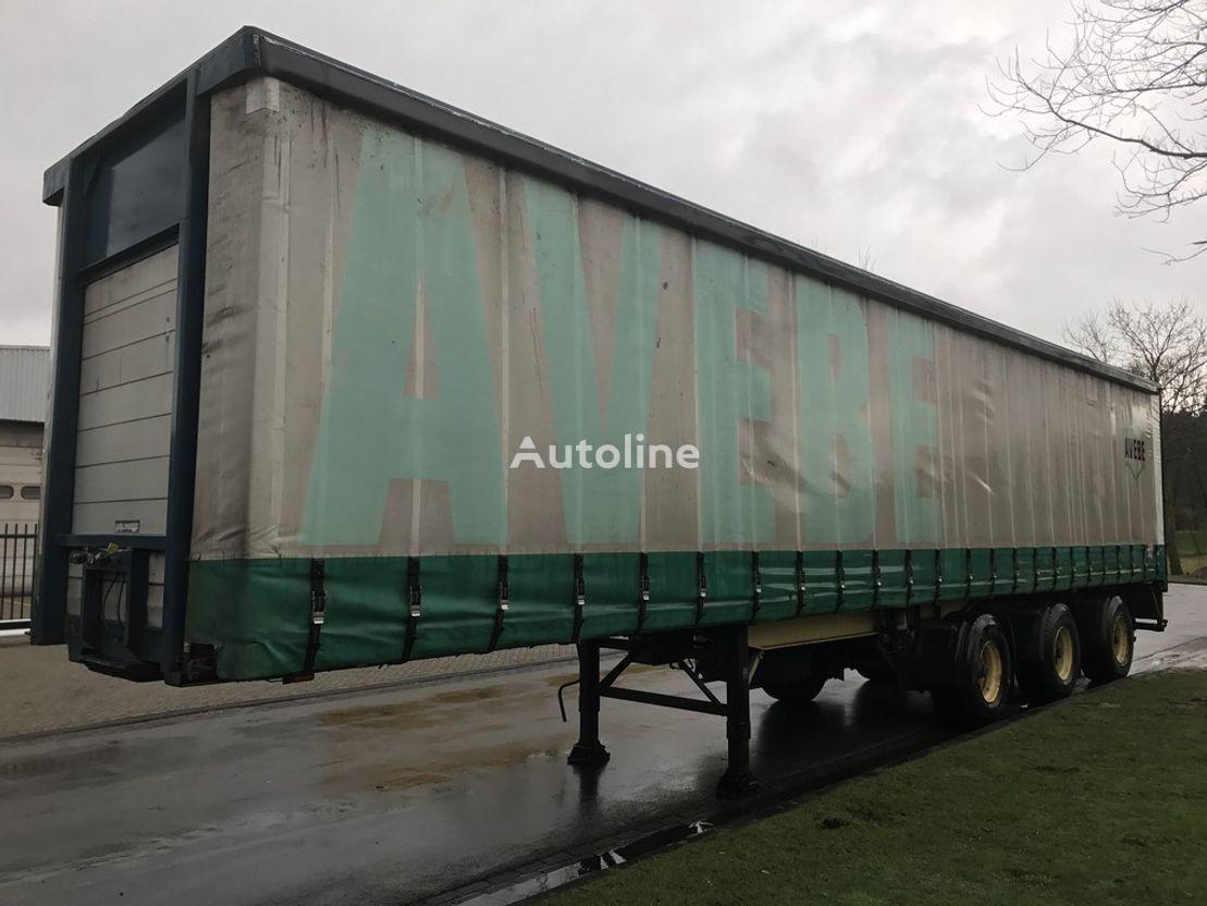 BULTHUIS schuifzijlen met 2 stuurassen curtain side semi-trailer