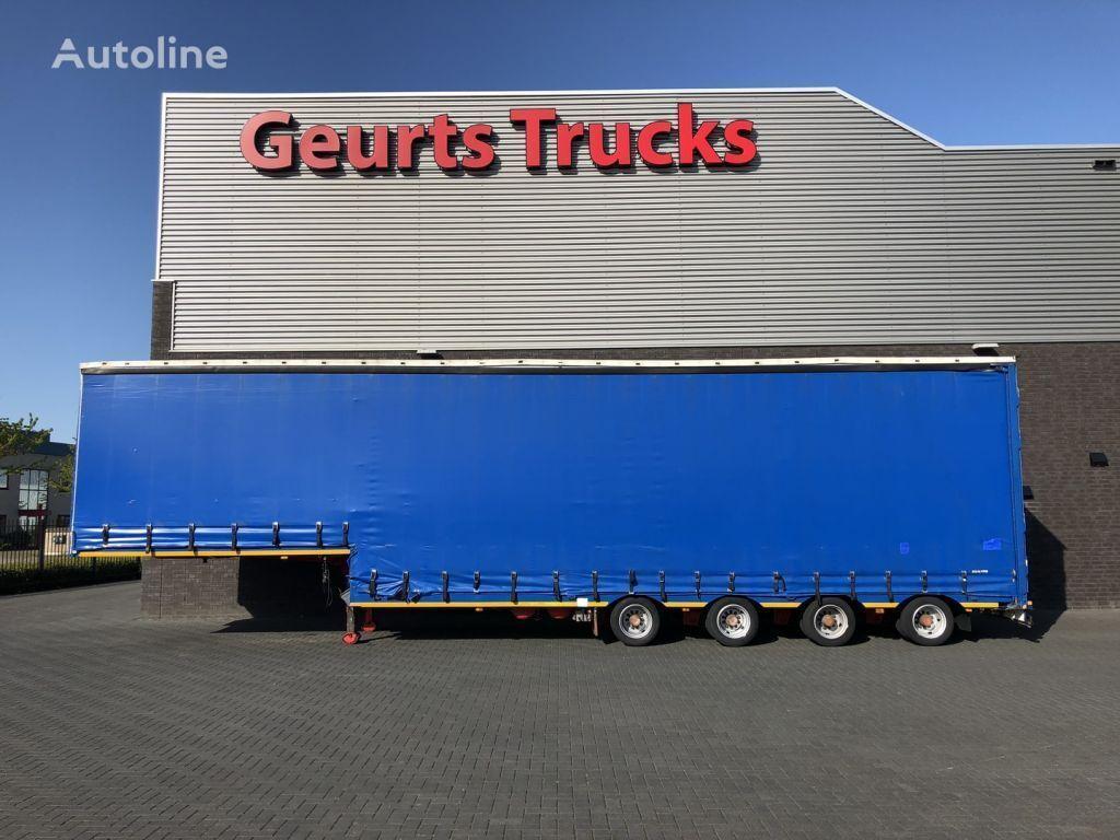 ES-GE 4 STL 4 ASSER SEMIE DIEPLADER MET HUIF curtain side semi-trailer