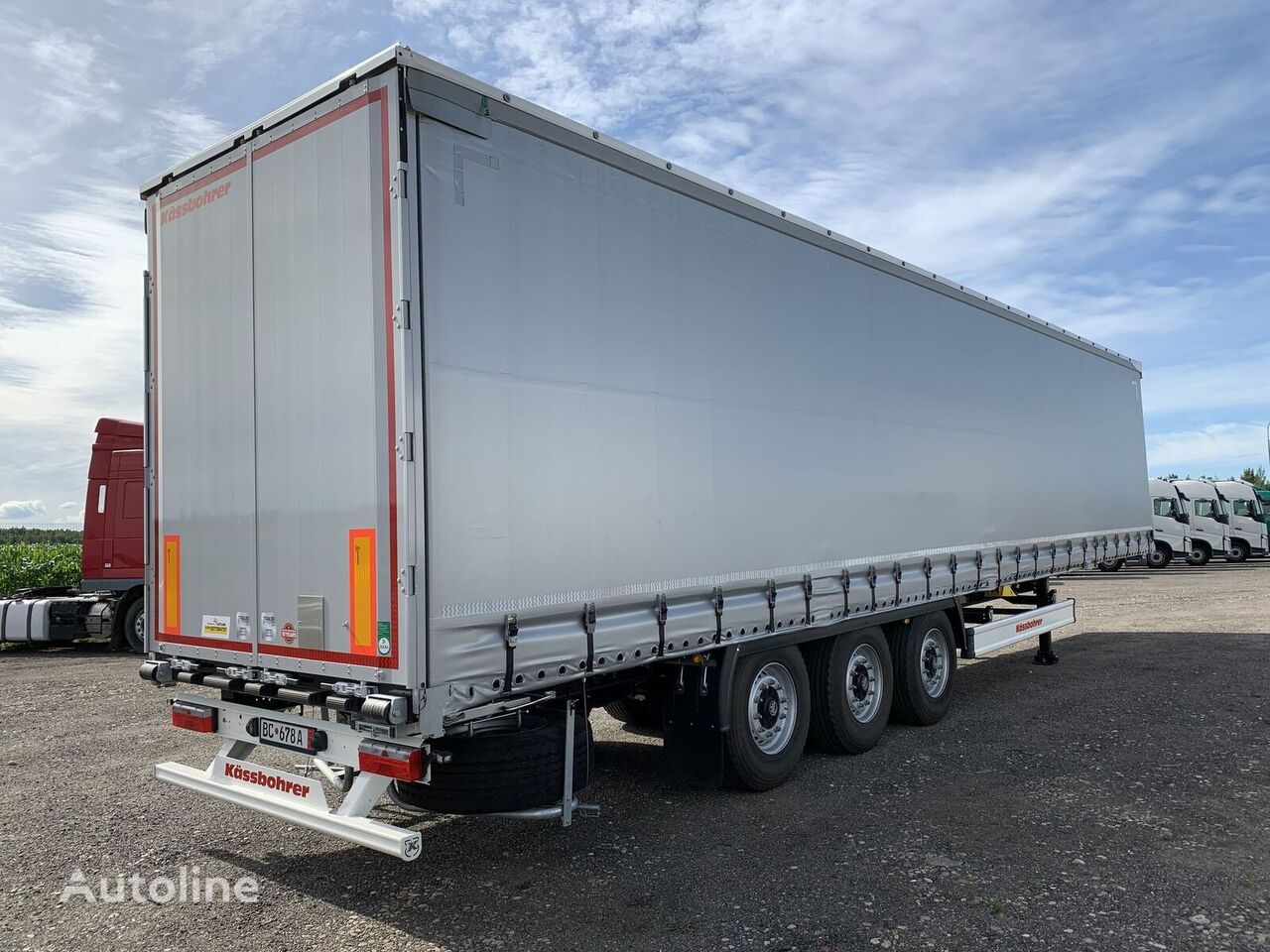 new KASSBOHRER Maxima curtain side semi-trailer