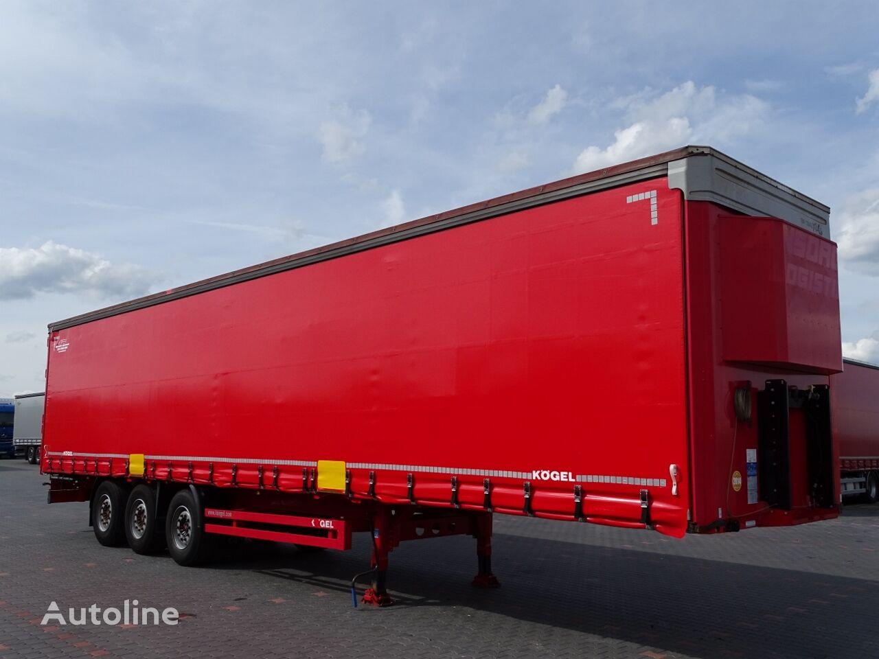 KÖGEL CURTAINSIDER / STANDARD / JOLODA / FOR PAPER / LIFTED AXLE /  curtain side semi-trailer