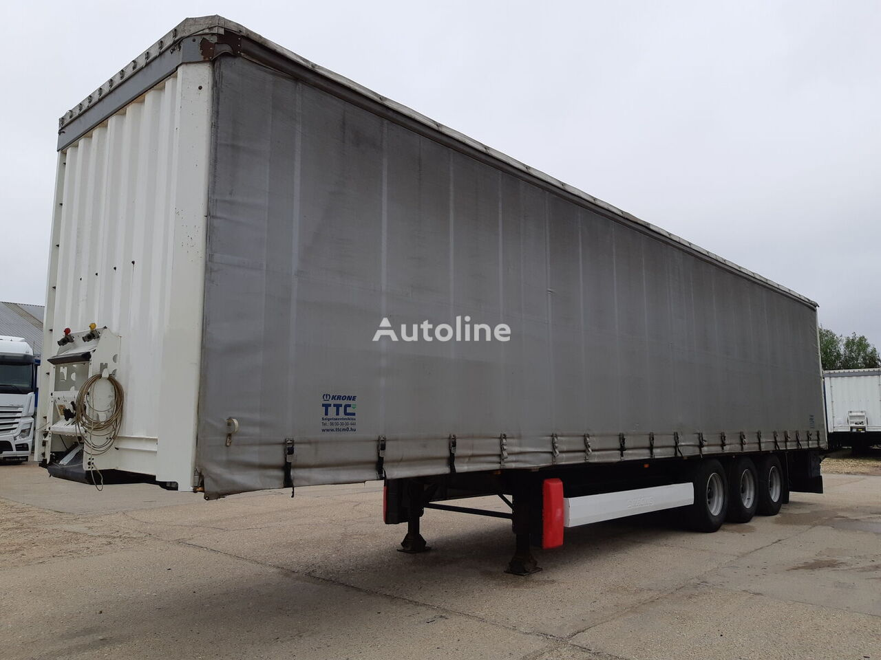 KRONE SDP Lift Axl  More pcs. curtain side semi-trailer
