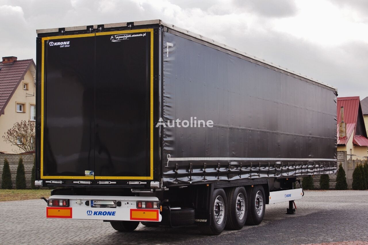 KRONE STANDARD COIL MULDE 9m / BRAKE DISC / SAF / LIFT AXE / 2014 - 6  curtain side semi-trailer