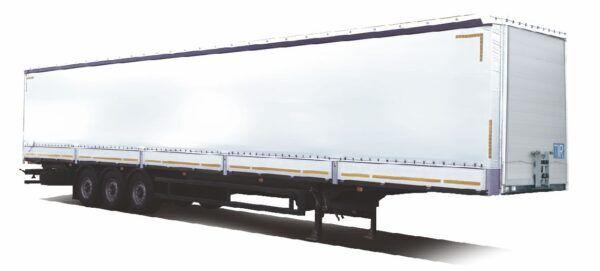 new MAZ 975870-2010-000 curtain side semi-trailer