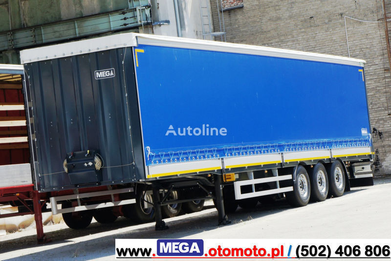 new MEGA 3 AXEL CURTAINSIDER / ALUSIDES H=600 MM/ READY !  curtain side semi-trailer