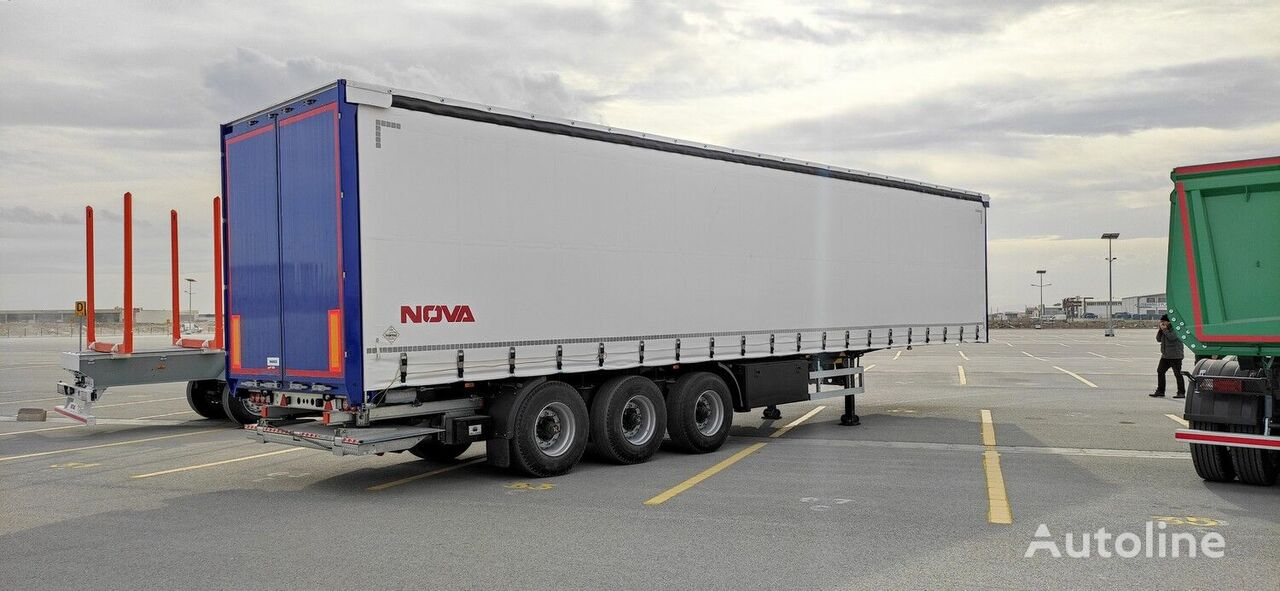 new NOVA NEW CURTAINSIDER SEMI TRAILER WITH TAIL LIFT curtain side semi-trailer