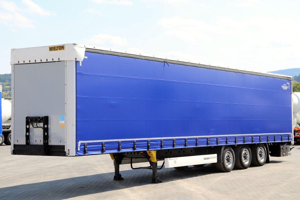 WIELTON CURTAINSIDER / STANDARD / LIFTED ROOF & AXLE / 385/55 R22,5 / XL curtain side semi-trailer