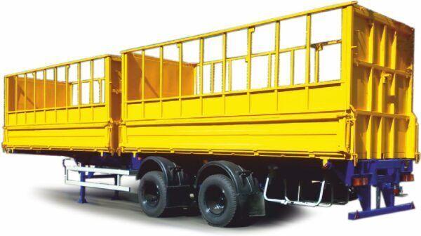 new MAZ 952900-011-000 flatbed semi-trailer