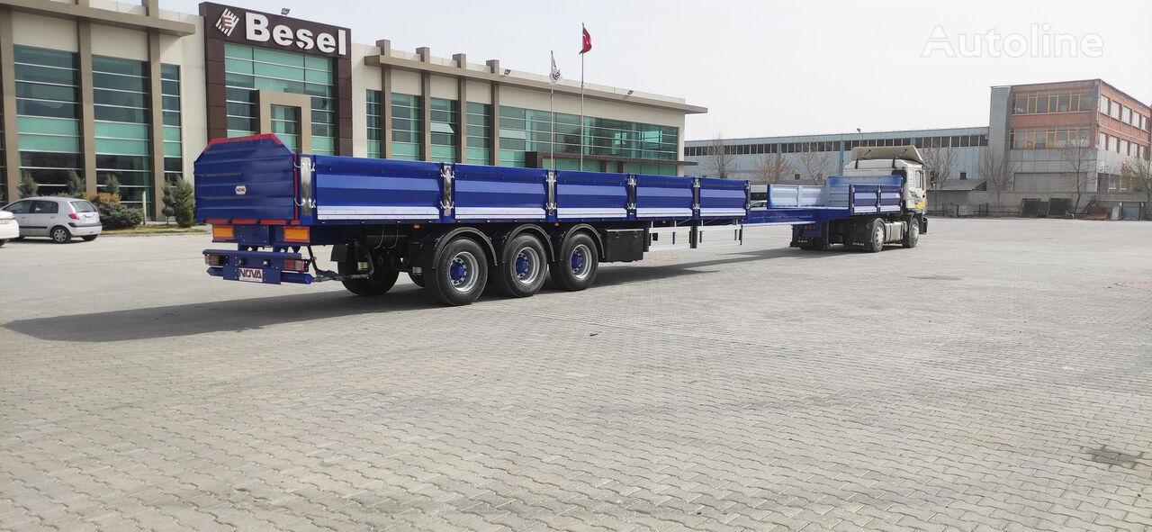 new NOVA NEW EXTENDABLE PLATFORM SEMI TRAILER PRODUCTION flatbed semi-trailer