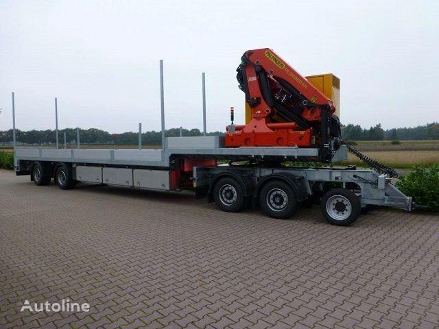 TRIAS 712-330 PK 26002F flatbed semi-trailer