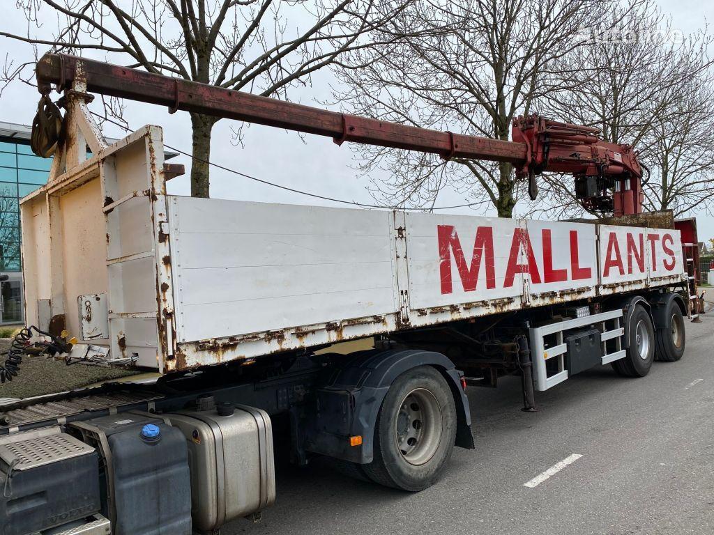 ATM 2 AS + HIAB 300-4 flatbed semi-trailer