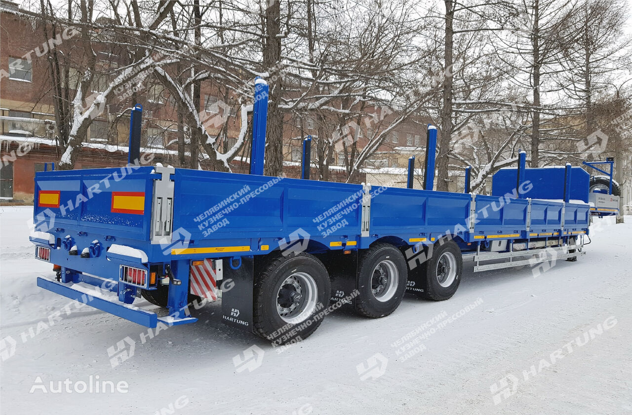 new HARTUNG 94334.797 flatbed semi-trailer