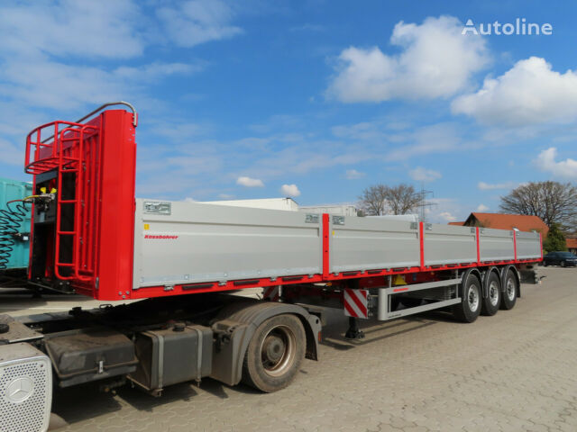 new KASSBOHRER Bordwandauflieger Twistlocks flatbed semi-trailer