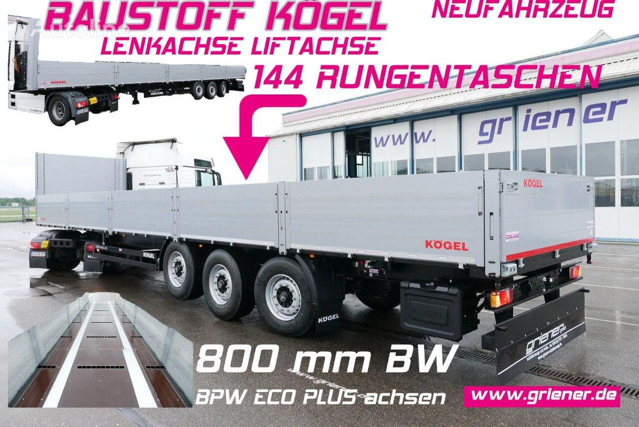 new KÖGEL SN24 flatbed semi-trailer
