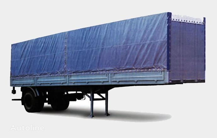new MAZ 938020 flatbed semi-trailer
