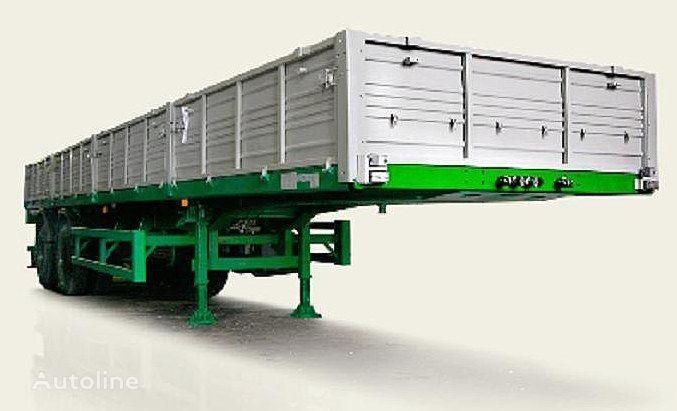new MAZ 938660 flatbed semi-trailer
