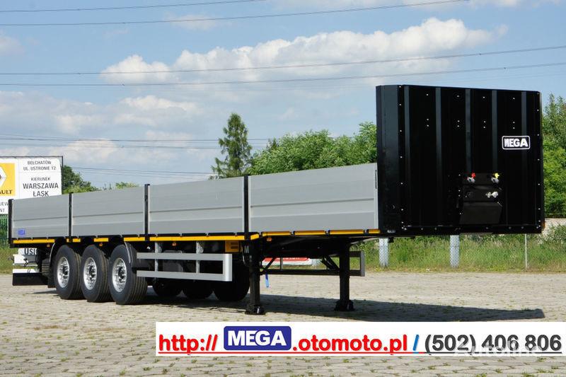 new MEGA MNS 22,5 - PLATFORM & ALUSIDES 800 MM /  STRONG  FRAME DOMEX650 flatbed semi-trailer