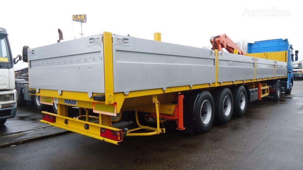 PANAV 04DA + Palfinger PK19000 flatbed semi-trailer