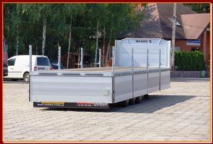 new ZASLAW TRAILIS BURTOWA BUDOWLANA 13,60 m/ SUPER STRONG / READY TO GO !! flatbed semi-trailer