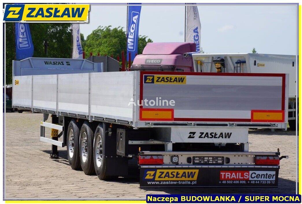 new ZASŁAW 13,60 m platforma budowlan, burty alum, SUPER HARD - GOTOWA !!! flatbed semi-trailer