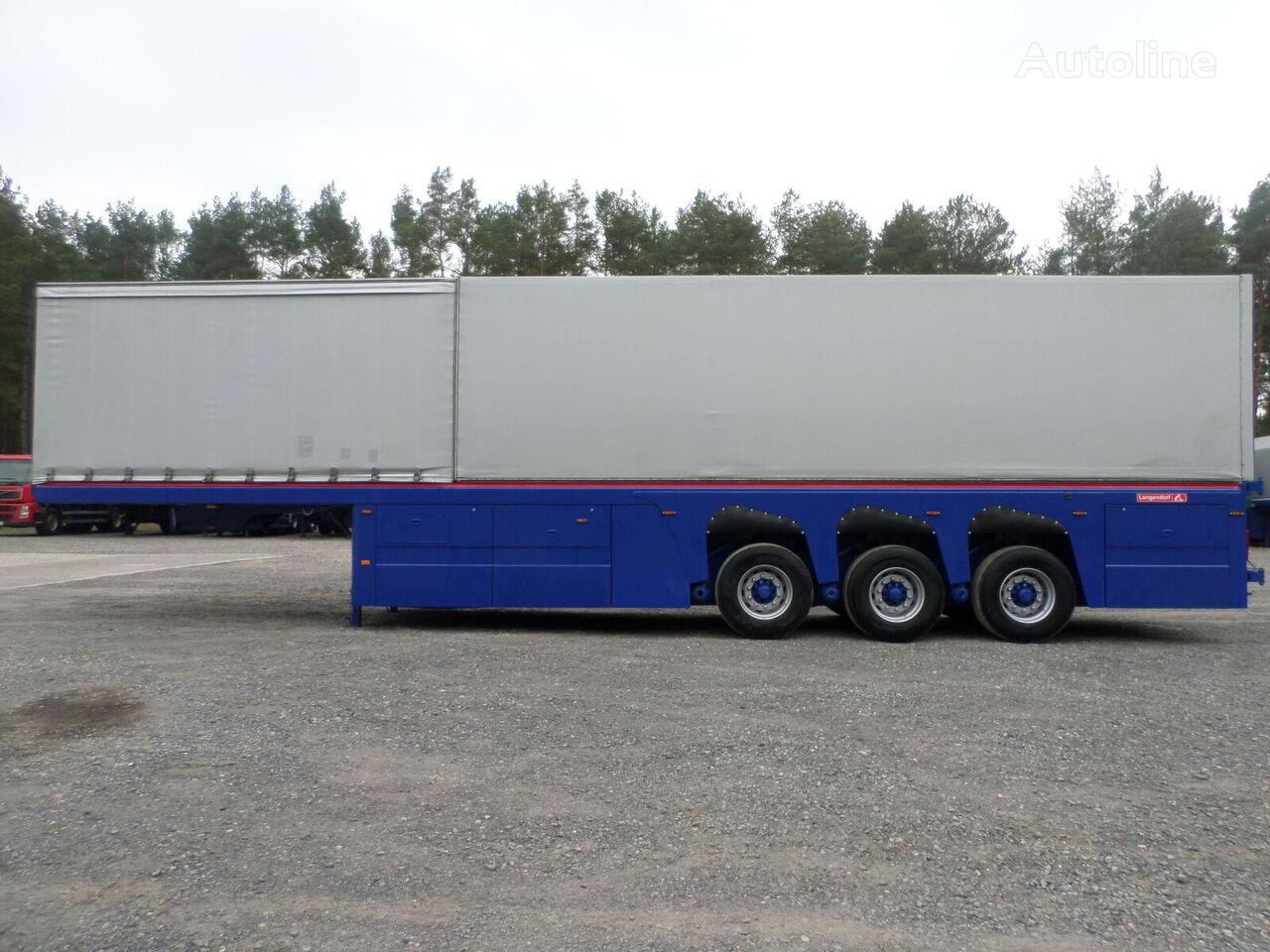 LANGENDORF DO SZKŁA PŁYT BETONOWYCH Inloader GLASS 2008 9,50 m  glass transport semi-trailer